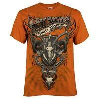Sturgis Harley-Davidson® Men's Skull Collage Texas Orange Short Sleeve T-Shirt