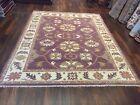"Unique Genuine Hand Knotted Indo Oushak Geometric Area Rug Carpet 7'11""x10'2"",#8"