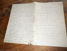 1870.Lettre autographe..Jean Louis Hamon (peintre Bretagne)