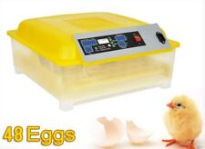 Egg Incubator Hatcher 48 Digital Clear Temperature Control Automatic Turning