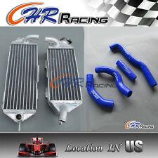 Kawasaki Aluminum radiator KX250/KX 250 1988 1989 88 89 & hose blue new