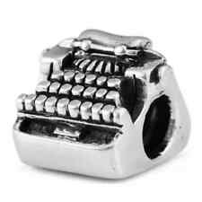 Sterling Silver Typewriter Ohm Bead Charm whb098