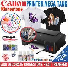 Canon Tank Ink Printer Machine Heat Transfer T Shirt Maker Rhinestone Start Kit