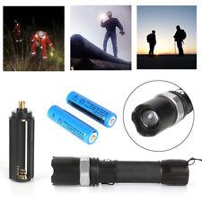Polizei Swat Led Cree Taschenlampe Zoom 1000 Meter Leuchtweite 2x PowerAkku DE