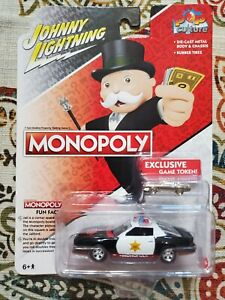 Johnny Lightning Monopoly 1982 Chevy Camaro Police Vehicle Exclusive Game Token