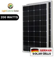 LCS Solar Panel 200 Watts 2pcs 100W Monocrystalline 12 Volt RV Boat Off Grid 24V