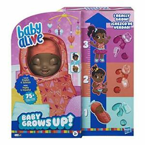 Baby Alive Grows Up (Sweet) Growing Speaking 1 Surprise Doll 8 Accessories