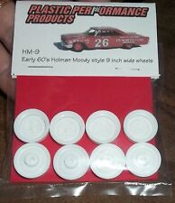 "PPP HM-9 NASCAR 1/25 60s HOLMAN MOODY 9"" WHEELS SET STOCK CAR MODEL PARTS"