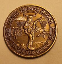 Ranger Training Brigade Serial #2359 Brass Army Challenge Coin