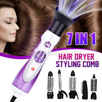 7in1 1000W Air Dryer Hot Cold Fast Dry Brush Style Hair Comb Straightener Curly