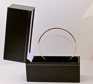 STACKING BANGLE HAND MADE SOLID GOLD 9CT 2mm SQUARE wire LONDON HALLMARK 10 gram