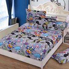 Japan Anime One Piece Kids Cotton Soft Fitted Sheet Bed Cover Bedding 150x200cm