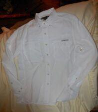 Exofficio Mens Medium Air Strip White Long Sleeve Shirt - Style# 1001 2035