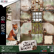 Ciao Bella The Sound of Winter 12 x 12 Scrapbooking Paper Set New Kit Christmas