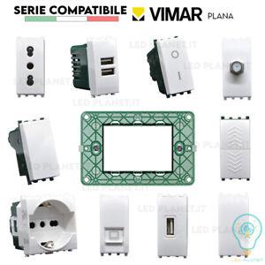 SERIE VIMAR PLANA COMPATIBILE FRUTTI PRESA SCHUKO PULSANTE INTERRUTTORE USB TV