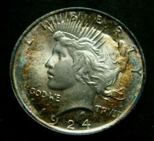 1924  PEACE $1 SILVER DOLLAR GENUINE U.S. MINT Naturally toned