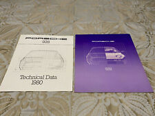 1980 PORSCHE 928 ORIGINAL PROMO SALES BROCHURE + FACTORY SPEC SHEET OEM A+