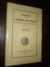 MEMOIRES DE L'ACADEMIE DES SCIENCES DE TOULOUSE - Volume 138 - 1976