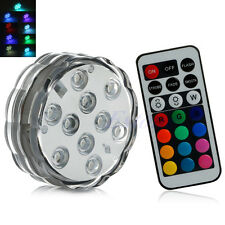 10 LED Multi Color Submersible Waterproof Wedding Party Vase Base Light + Remote