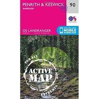 OS Landranger Active Map  90  Penrith & Keswick, Ordnance Survey, Very Good, Map