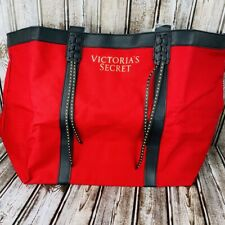 Victorias Secret Red Studded Tote Shoulder Beach Bag Limited Edition Travel New
