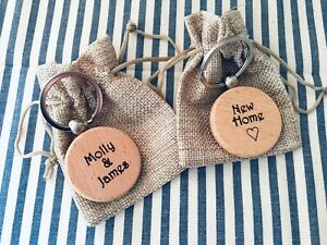 New Home Keyrings Couples Gift His & Hers First House Present Daughter Son