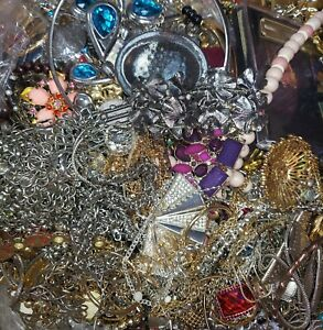 15+LB Vintage to Modern Mixed Jewelry Lot, All Wearable/Sellable Condition