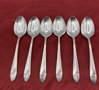 Tudor Plate Oneida Community 1946 Queen Bess II Silverware Set Of 6 Teaspoons