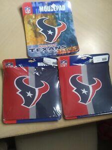 3 HOUSTON TEXANS FOOTBALL MOUSEPAD MOUSE PAD HOME OFFICE GIFT NFL