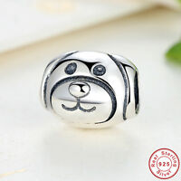 New Authentic 925 Sterling Silver Devoted Dog Charm Bead fit European Bracelet