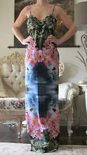 New STELLA McCARTNEY Runway Hawaii Print Design,Long,Gown,dress It 42,US 6-8,S-M