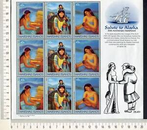 36444) Marshall Islands 1989 MNH Health to Alaska S/S