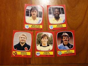 Lot 5 Images Foot 1987panini