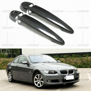 Real Carbon Fiber Door Handle Cover For BMW E87 E90 E92 E93 F25 F30 E70 E71 F80