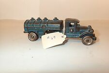 Small Blue Gasoline Motor Oil Truck