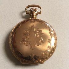 Ladies Pocket Watch Antique 14K Gold Waltham