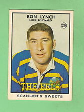 1968 SERIES 2  SCANLENS RUGBY LEAGUE CARD  #29. RON LYNCH, PARRAMATTA EELS