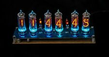 Nixie Clock IN-14 Tubes assembled oak wood (WITH TUBES + ADAPTER)
