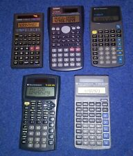 Lot Of 5 Calculators Ti-30Xa Se,30X Solar, 30X Iis +Casio fx-300Ms, fx-260 Solar