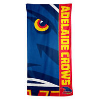 Adelaide Crows AFL Printed 75cm x 150cm Cotton Velour Beach Towel New