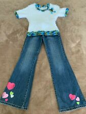 GYMBOREE Jeans & HANDMADE Shirt 8-10Y *20% OFF if you buy 4 items I sell!*