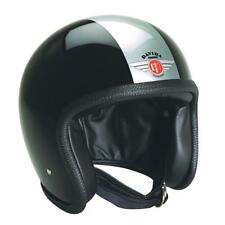 Davida V3 Speedster 93 Open Face Motorcycle Helmet - Black/Silver