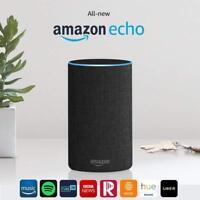 Amazon Echo (2nd Generation) Smart Assistant - Charcoal Black
