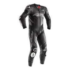 RST Tractech Evo R Leather Motorcycle Motorbike 1 One Piece Suit - Black