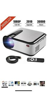 Video Projector FASTER 1080P Full HD Portable LED 3600 Lumens 30,000 Hrs