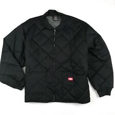 NWOT 5XL Dickies Mens Quilted Work Jacket Bomber Lined Cotton Polyester Black