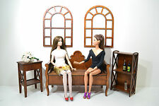 NEW Set furniture Wooden for Dolls 1/6 12 in FR Barbie handmade Diorama perfect
