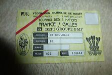 BILLET TOURNOI DES 5 NATIONS 02/03/1991 FRANCE - PAYS DE GALLES RUGBY AU PARC