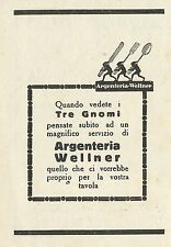 W3548 Argenteria WELLNER posate e vasellame - Pubblicità 1929 - Advertising