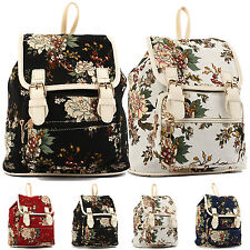 Cute Womens Canvas Bag Travel Rucksack Hobo Bag Satchel Bookbags Mini Backpack